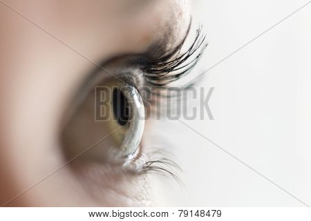 Close Up Of A Woman's Eye Looking Aside