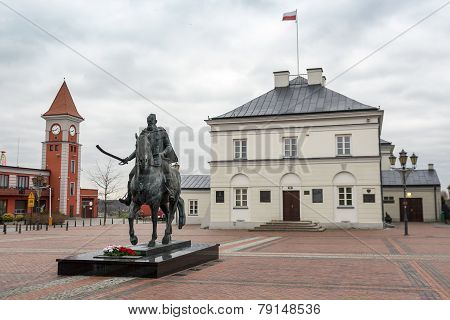 Town Hall Of Warka Located Close To Warsaw, Poland