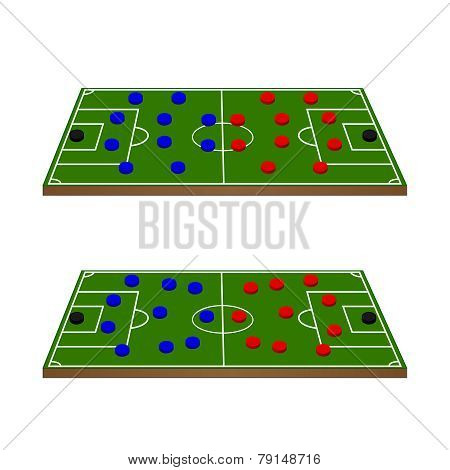 Football Teams Formation Circles