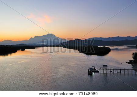 Sunrise in Kota Kinabalu Borneo