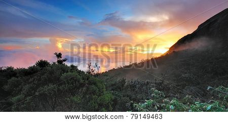 Sunset at Kinabalu National Park Sabah Borneo