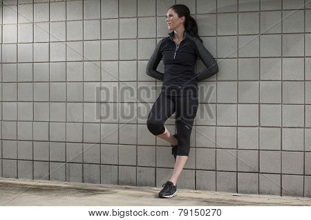 Woman Relaxing After a Workout