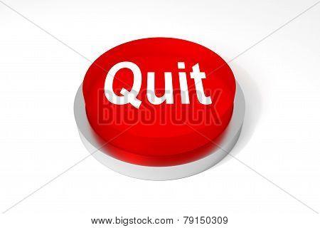 Red Round Button Quit