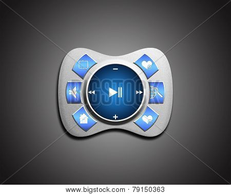 metal interface media Player