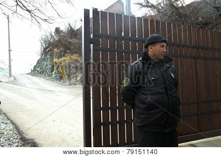 The Guard Near Villas Krasnodar Governor Tkachev