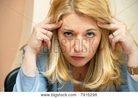 Businesswoman Headache