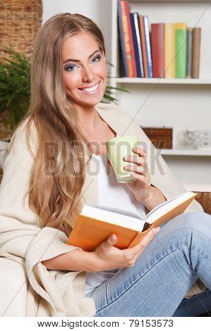 Happy Woman Reading