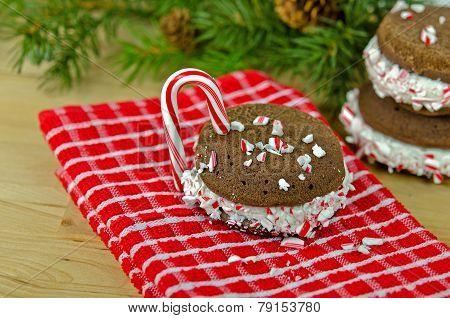 Christmas Chocolate whoopie pie