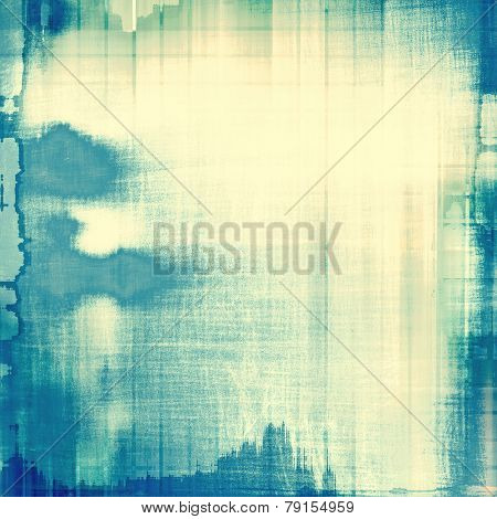 Weathered and distressed grunge background with different color patterns: blue; cyan; yellow (beige)