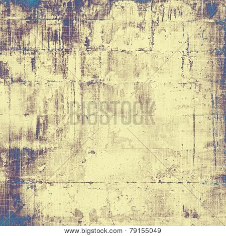 Abstract old background or faded grunge texture. With different color patterns: blue; yellow (beige); brown; purple (violet)