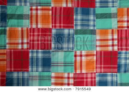 madras plaid quilt