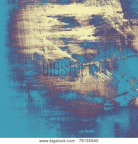 Old grunge textured background. With different color patterns: blue; cyan; yellow (beige); purple (violet)