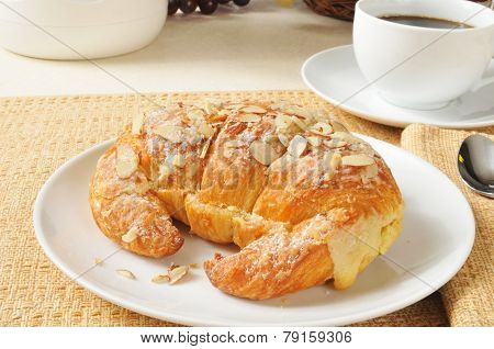 Custard Filled Almond Croissant
