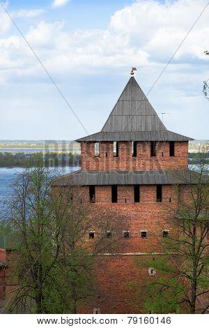 Ivanovskaya Tower Of The Ancient Kremlin In Nizhny Novgorod. Russia
