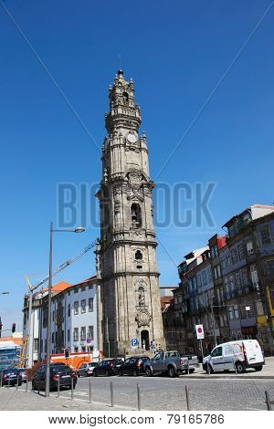 Clerigos Church In Porto, Portugal