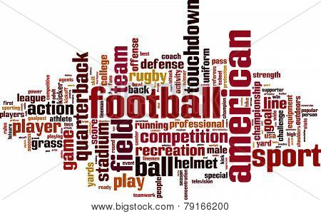 American Football Word Cloud