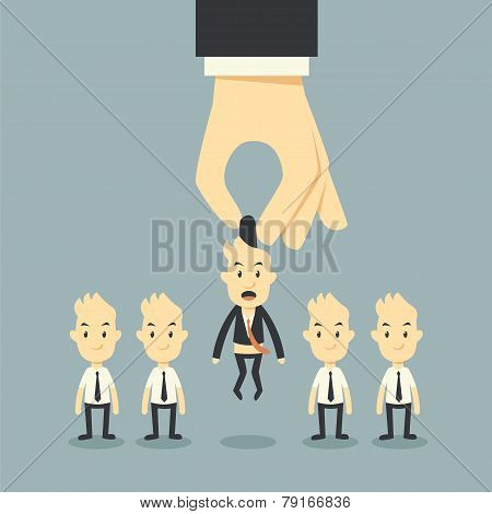 Businessman Hand Choosing