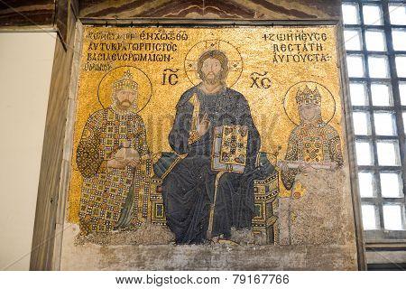 Hagia Sophia Jesus Mosaic - Istanbul, Turkey