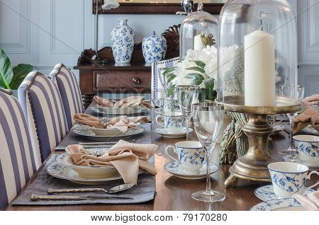 Luxury Dinning Table Set At Home