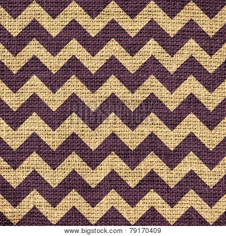 Seamless old chevron zigzag burlap jute fabric background