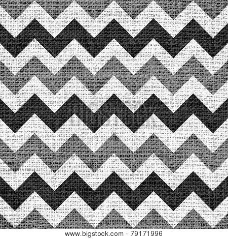 Seamless chevron zigzag burlap jute canvas vintage background