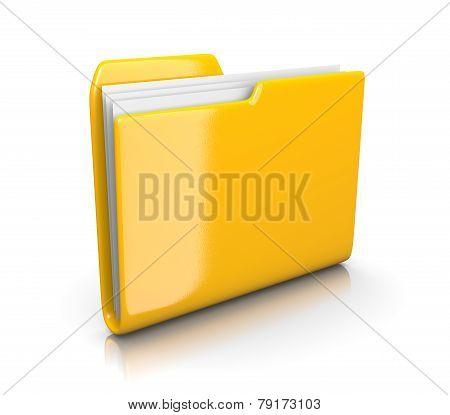 Yellow Document Folder