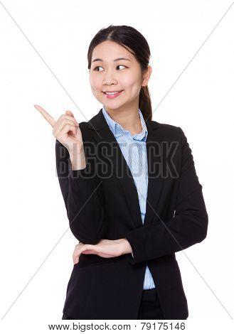 Businesswoman think od something