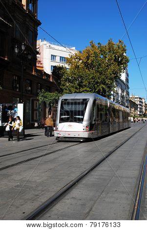 Modern Tram, Seville.