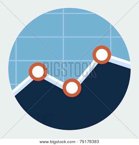 Vector line graph icon