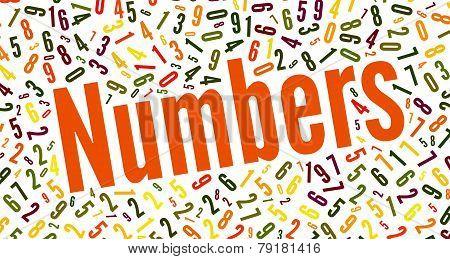 Numbers Word Cloud