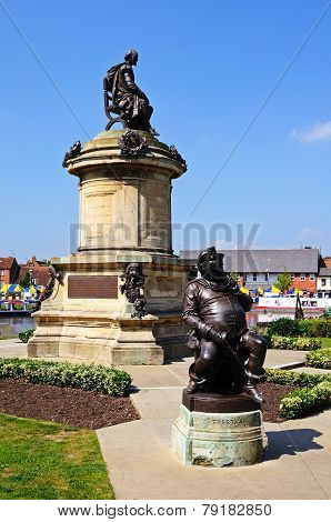 Shakespeare memorial, Stratford-upon-Avon.