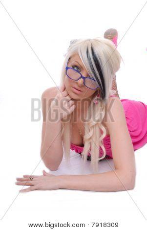 schöne junge blond Girl posing
