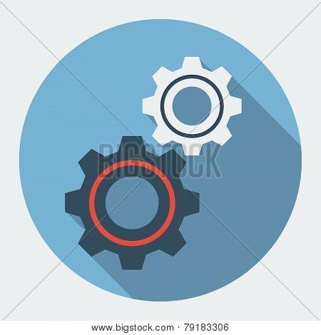 Cog settings flat icon