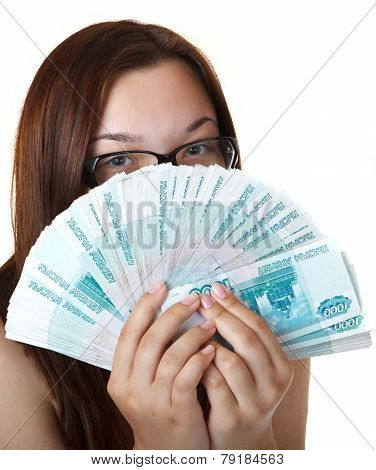 Thoughtful Girl with a Fan thousands of denominations.