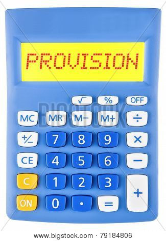 Calculator With Provision