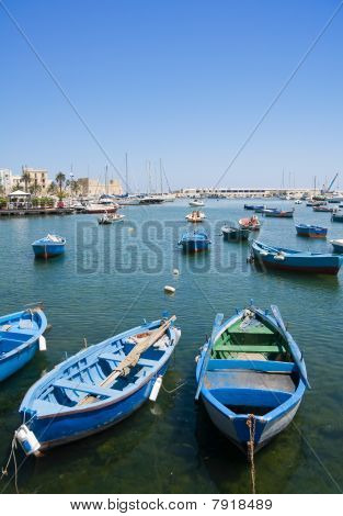 Boats in port.