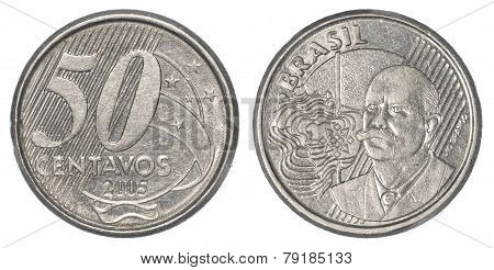 50 Brazilian Real Centavos Coin