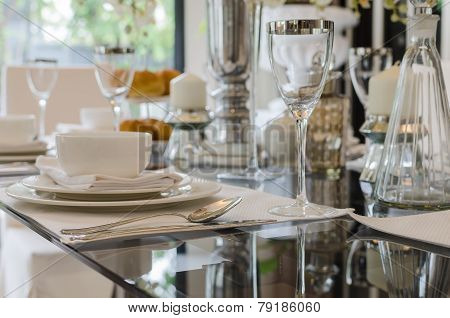 Modern Interior Table Setting