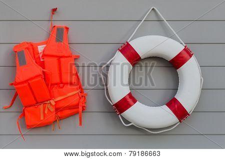 Life Vest And Life Belt