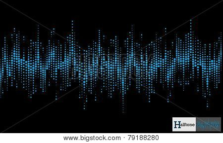 Halftone sound wave pattern