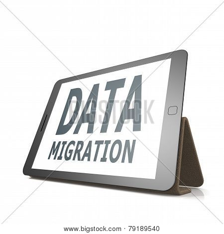 Tablet With Data Migration Word