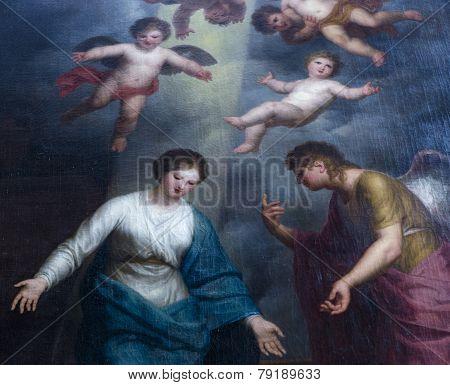 Interiors of Saint Michael cathedral, Ghent, Belgium