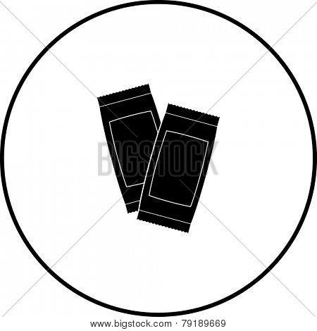 condiment sachets symbol