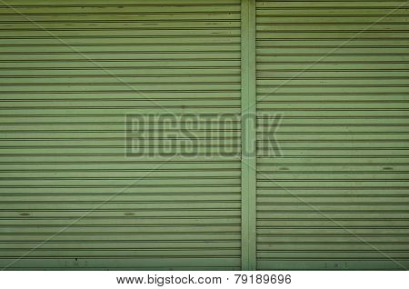 Dirty Roller Shutter Door