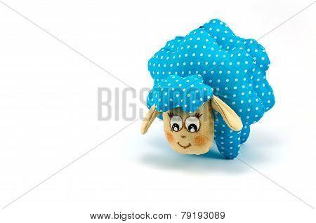 Rag-doll blue speckled lamb