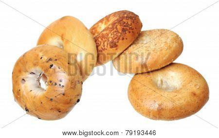Five Baked Bagels