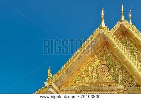 Thai Temple With Thai Pattern