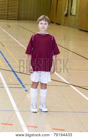 Proud Young Soccer Player