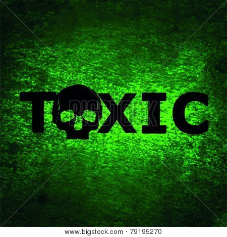 Toxic Background With Skull