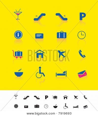 Airport and travel iconset